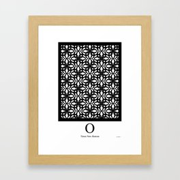LETTERNS - O - Times New Roman Framed Art Print