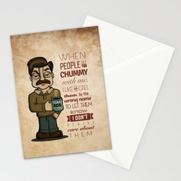 Ron Swanson 6 Stationery Cards