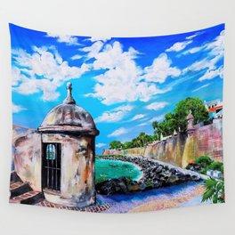 Paseo del Morro, Old San Juan, Puerto Rico art Wall Tapestry