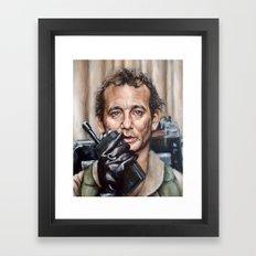 Bill Murray / Ghostbusters / Peter Venkman / Close-Up Framed Art Print