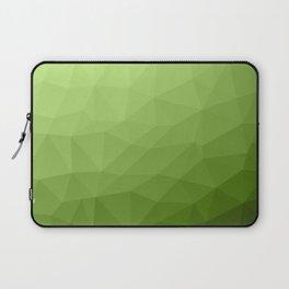 Greenery ombre gradient geometric mesh Laptop Sleeve