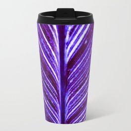 Feather Leaf in Purple Travel Mug