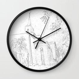 San Salvador El Salvador LDS Temple Sketch Wall Clock