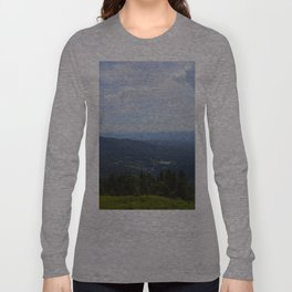 Stowe, Vermont Mountains Long Sleeve T-shirt