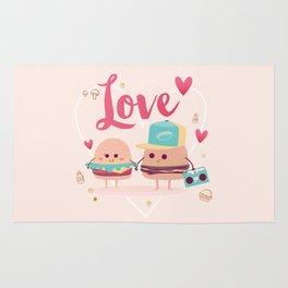 Burgers in Love Rug