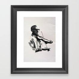 An Irish Fiddler Framed Art Print
