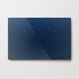 Dark Blue Fleecy Material Texture Metal Print