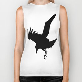 Raven A Halloween Bird Of Prey  Biker Tank