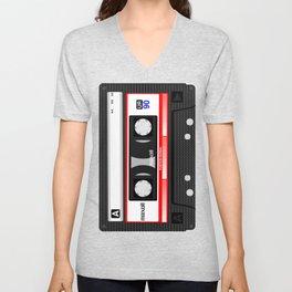 Retro audio cassete Unisex V-Neck