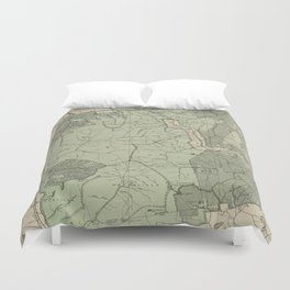 Vintage White Mountains New Hampshire Map (1915) Duvet Cover