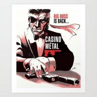 metal gear Art Prints featuring METAL GEAR: Casino Metal by JoPruDuction Art