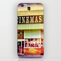 cinema iPhone & iPod Skins featuring Abandoned Cinema by Elina Cate