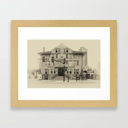 Back in Time Indiana Framed Art Print