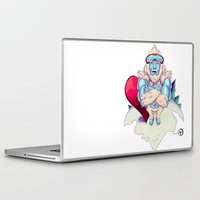 snowboard Laptop & iPad Skins featuring Snowboard Yeti by garciarts