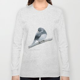 The Bashful Black-Eyed Junco by Teresa Thompson Long Sleeve T-shirt