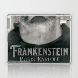 Frankenstein, vintage movie poster, Boris Karloff, horror film, Mary Shelley book cover Laptop & iPad Skin