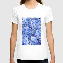 Wild Blue Rose Garden T-shirt