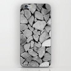 black'n white wood iPhone & iPod Skin
