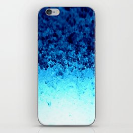 Blue Crystal Ombre iPhone Skin
