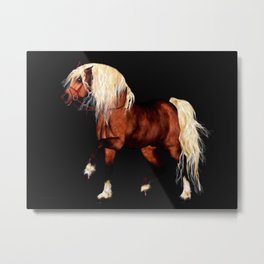HORSE - Black Forest Metal Print