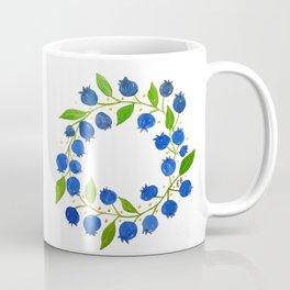 Blueberry Wreath Coffee Mug