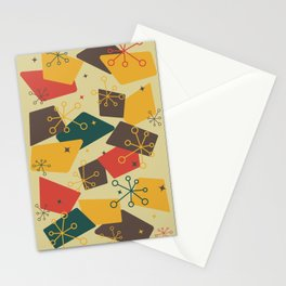 Mid Century Modern Futuro (gold) Stationery Cards