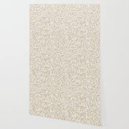 Tiny Spots - White and Khaki Brown Wallpaper