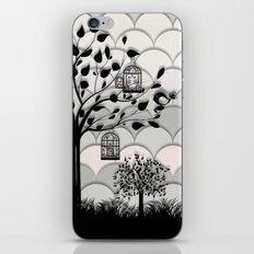 Paper landscape B&W iPhone & iPod Skin
