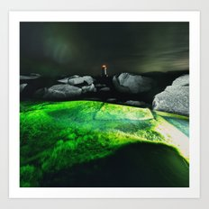 The Green Lagoon Art Print