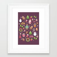 merry christmas Framed Art Prints featuring Merry Christmas by Anna Alekseeva kostolom3000