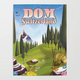 Dom Switzerland Landscape poster. Poster