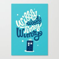 risa rodil Canvas Prints featuring Wibbly Wobbly Timey Wimey by Risa Rodil