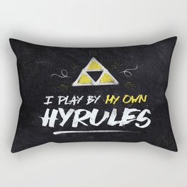 Legend of Zelda Inspired Type I Play by My Own Hyrules Rectangular Pillow