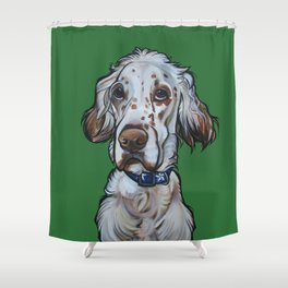 Ollie the English Setter Shower Curtain