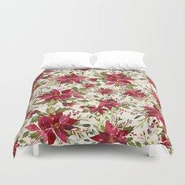 POINSETTIA - FLOWER OF THE HOLY NIGHT Duvet Cover