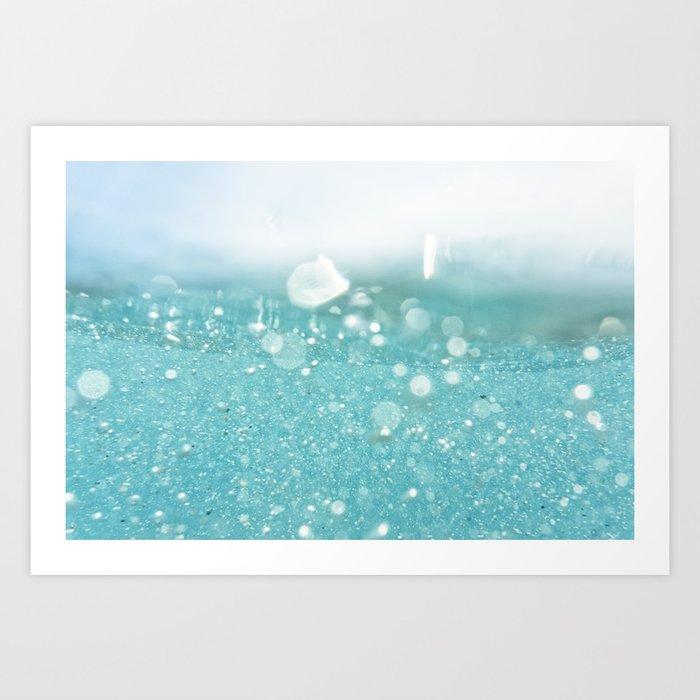 Undersea bubbles Art Print
