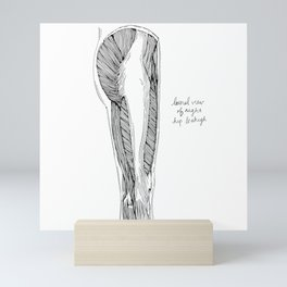 Lateral View of Right Hip & Thigh Mini Art Print