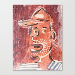 You Talk Too Much Cartoon Face Canvas Print