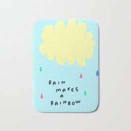 Rain Makes A Rainbow no.3 - colorful illustration Bath Mat