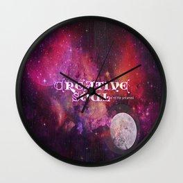 Creative Soul Moon Wall Clock