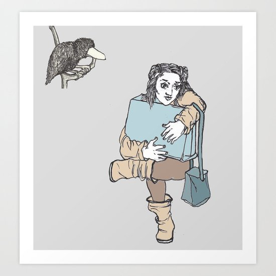 The passengers Art Print