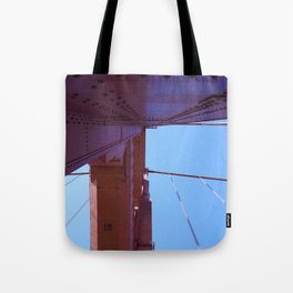 Looking Up, Walking the Golden Gate Tote Bag