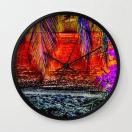 Paradiso,red Wall Clock