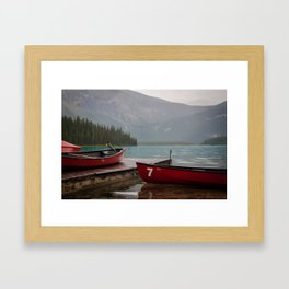 Quiet morning on the lake Framed Art Print