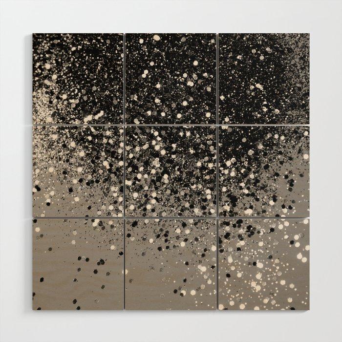 Silver Gray Glitter 1 Shiny Decor Art Society6 Wood Wall By Anitabellajantz
