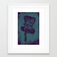 alice in wonderland Framed Art Prints featuring Alice in Wonderland by Drew Wallace