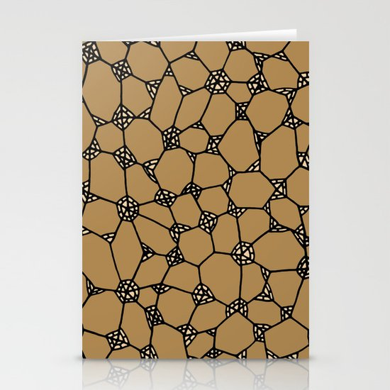 Yzor pattern 006-2 kitai beige Stationery Cards