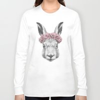 hare Long Sleeve T-shirts featuring Hare  by Victoria Novak