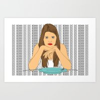 Eat, woman, eat. Art Print