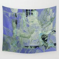 transparent Wall Tapestries featuring transparent flowers by clemm